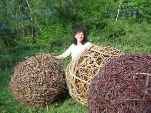 oak, clematis, birch balls
