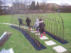 new living willow tunnel