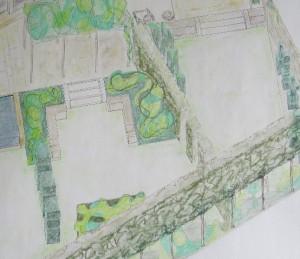 section of contemporary garden